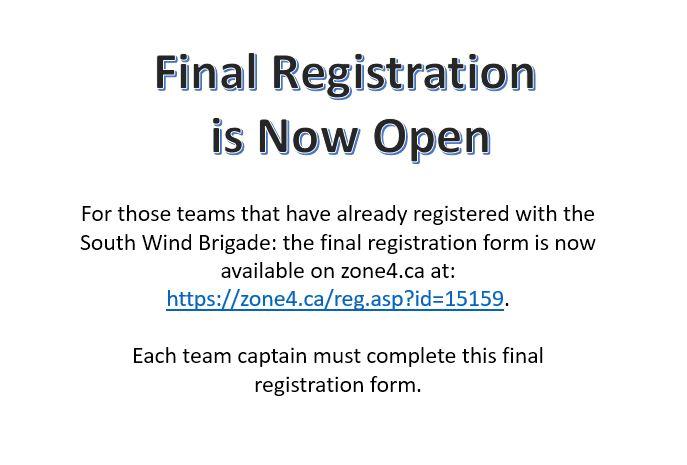 Final Registration is Now Open