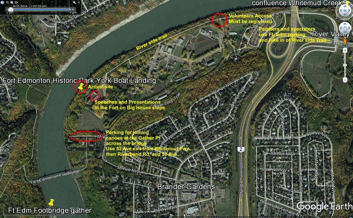 Fort Edmonton Canoe Brigade Maps Site Plans Canadian Voyageur