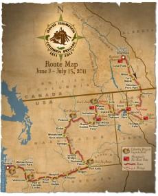 David Thompson Columia Brigade 2011 - Route Map