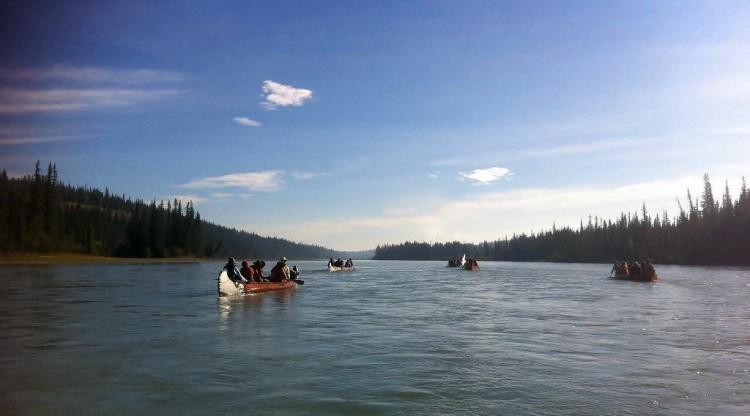 2011 Athabasca River Voyageur Canoe Brigade